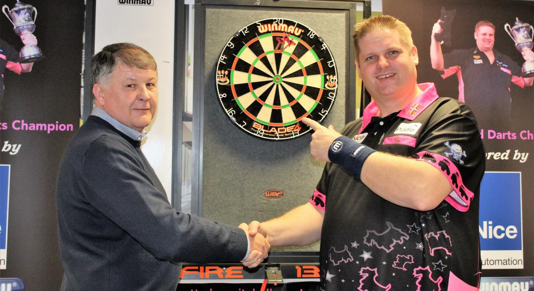 Darts champion Scott Mitchell visits Nice UK for February Open Days