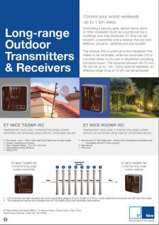 Long-range Outdoor Transmitters and Receivers