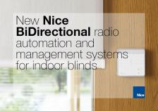 Nice BiDirectional systems for indoor blinds