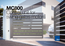 MC800 - control unit for swing gates motors