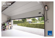 Soon, the compact guideless solution for sectional doors