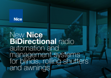 Nice BiDirectional solutions for blinds, rolling shutters and awnings