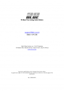 90 Blue Plus swing gate operator