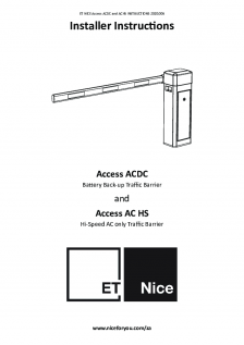 Access ACDC and Access AC HS Traffic Barrier