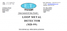 MD99 Loop Metal Detector