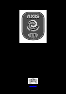 AXIS swing gate operator