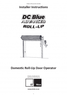 DC Blue Advanced Roll-Up GDO