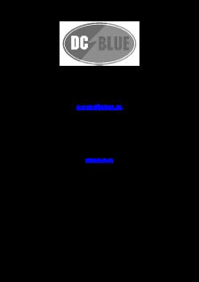 DC Blue Plus GDO - DC Blue GDO(User Instructions)