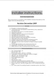 DC Blue Plus GDO (Installer Instructions)