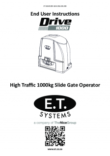 DRIVE 1000 slide gate operator(User Instructions)