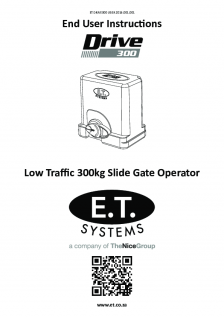 Drive 300 slide gate operator (User Instructions)