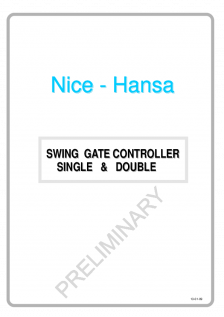 HANSA Elite swing gate operator