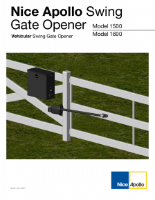 Apollo 1500/1600 Swing Gate Operator
