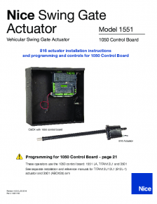 Nice 1551 Swing Gate Actuator