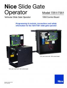 Nice 7251/7351 Slide Gate Operator