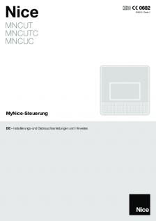 MyNice Manuale di istruzione