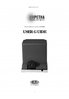 Umpetha slide gate operator(User Instructions)